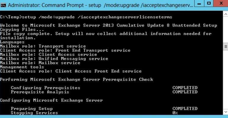 Exchange 2013 CU8 appears. Instant boredom ensues - but for the best possible reason