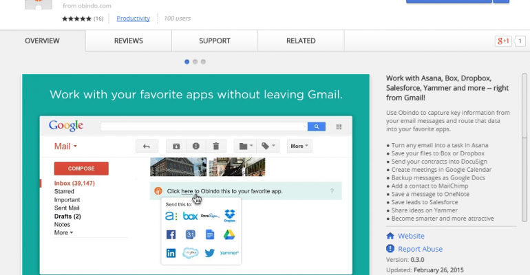 Microsoft partners with Obindo to connect Gmail with OneNote and Yammer