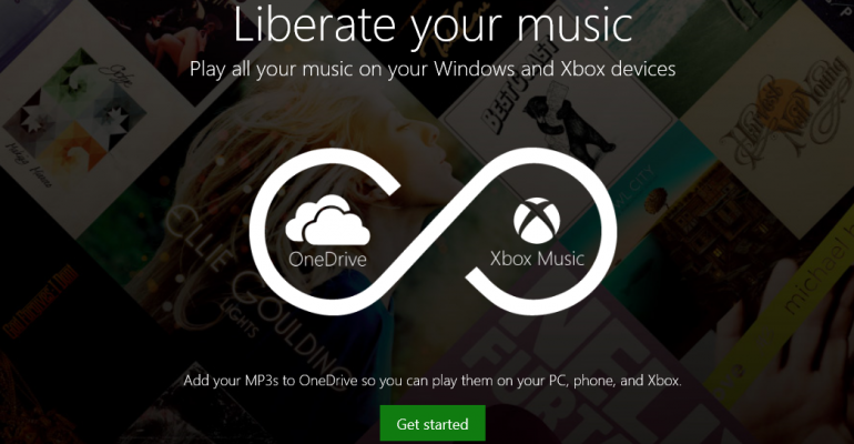 Xbox Music now integrates your personal music collection stored on OneDrive