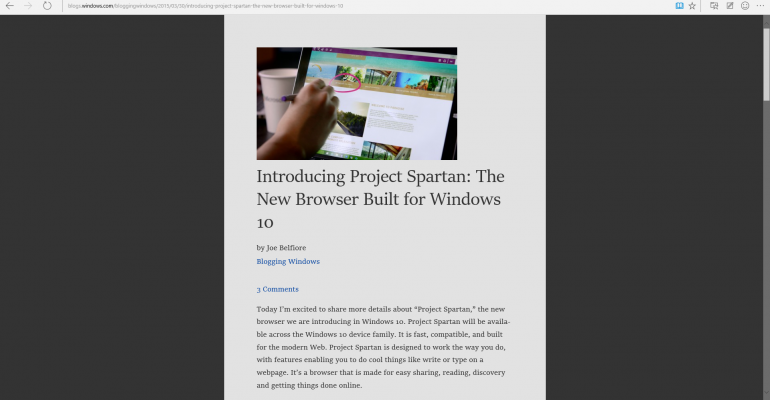 Hands On: Windows 10 Technical Preview build 10049 and Project Spartan