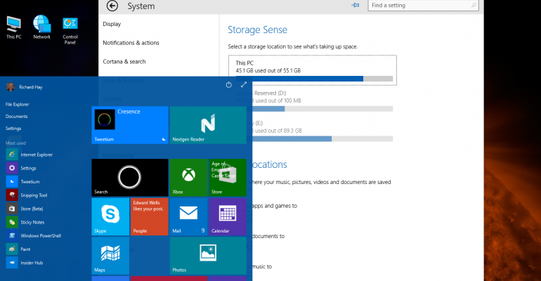 Hands On: Windows 10 Technical Preview build 10041