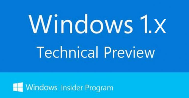 Can Customers Survive a Windows 10 Full of 1.x Technology?