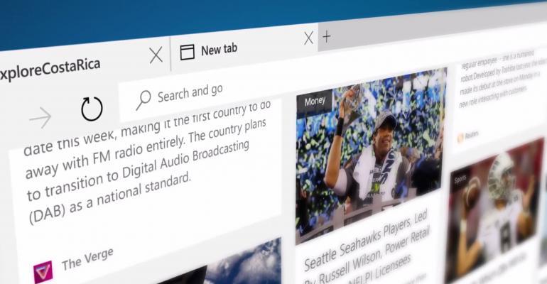 Microsoft Edge  what it looks like