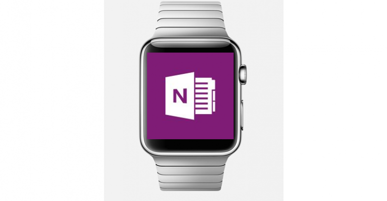 OneNote for iPhone also gets Apple Watch enhancements