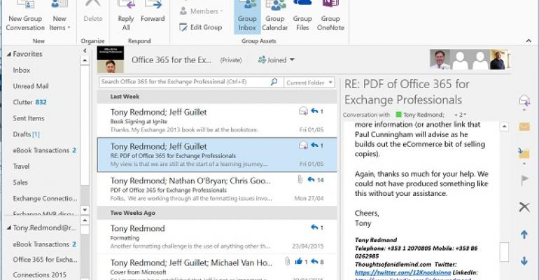 Roadmap reveals potential for Office 365 Groups