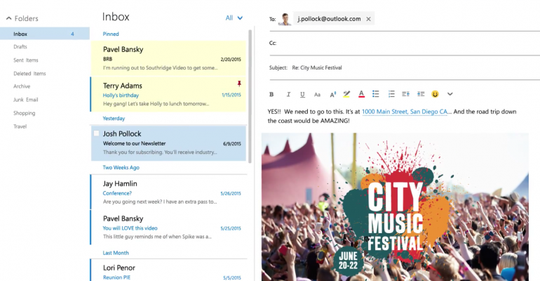 Microsoft begins preview program for new Outlook.com features