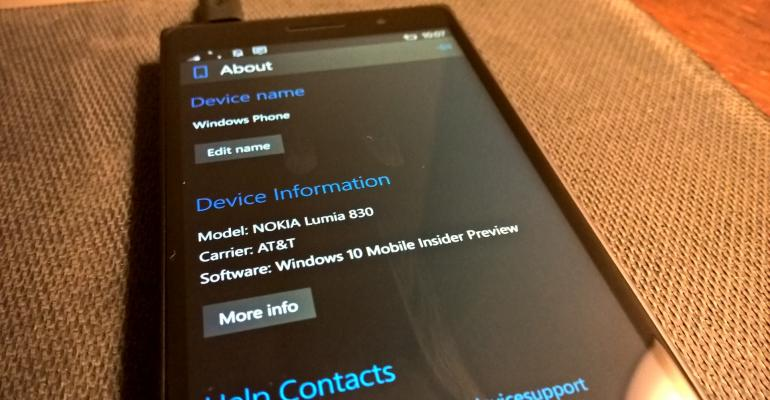 Hands On with Windows 10 Mobile build 10080