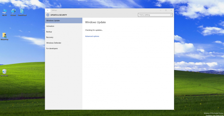 Windows 10 update remedies failed flyouts