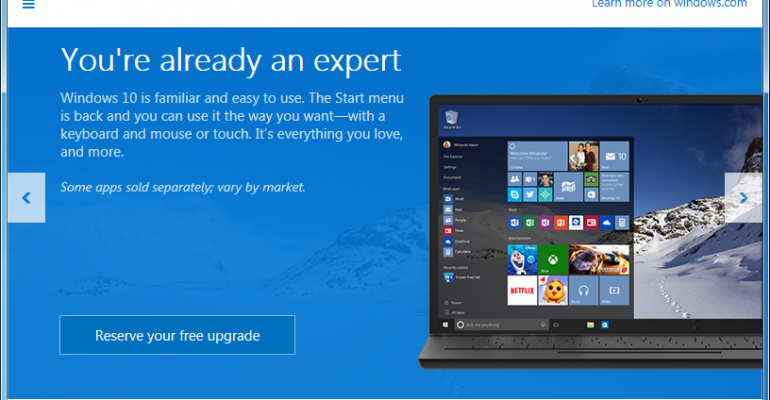 Windows 10 official specifications and deprecated features