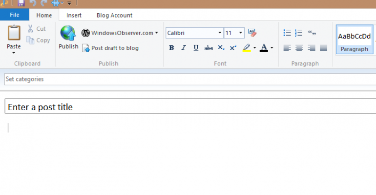 Microsoft to Open Source Windows Live Writer