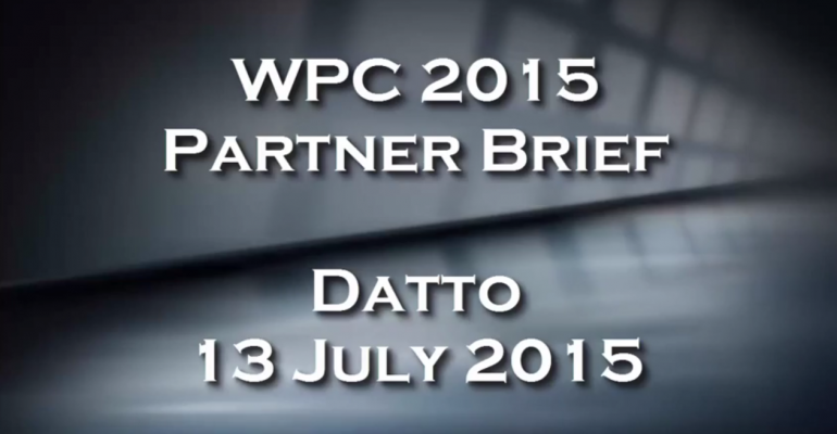 WPC 2015 Partner Brief - Datto