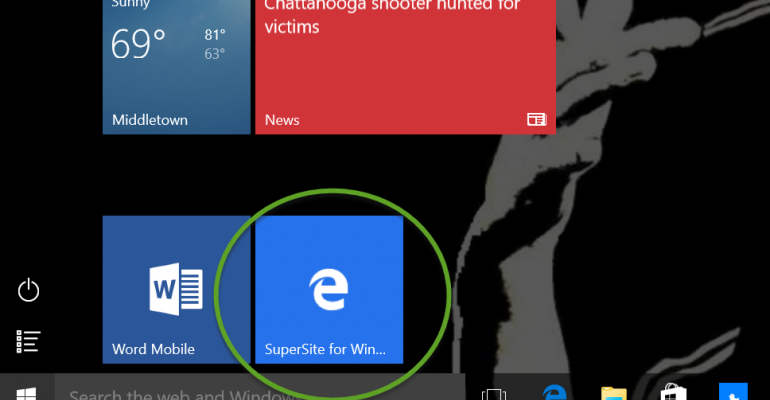 How To: Pinning Websites to the Windows 10 Start Screen