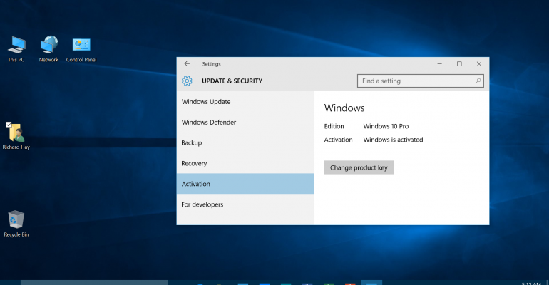 How to make sure your free copy of Windows 10 is activated