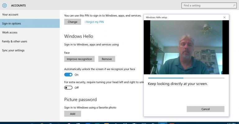Windows Hello Facial Recognition Demo (Video)