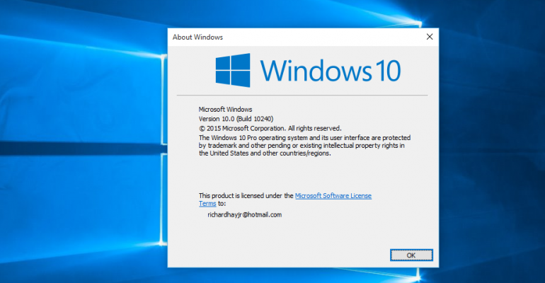 Insiders must update to Windows 10 Build 10240 for continued access