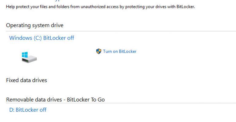 Identifying BitLocker Encryption per Drive