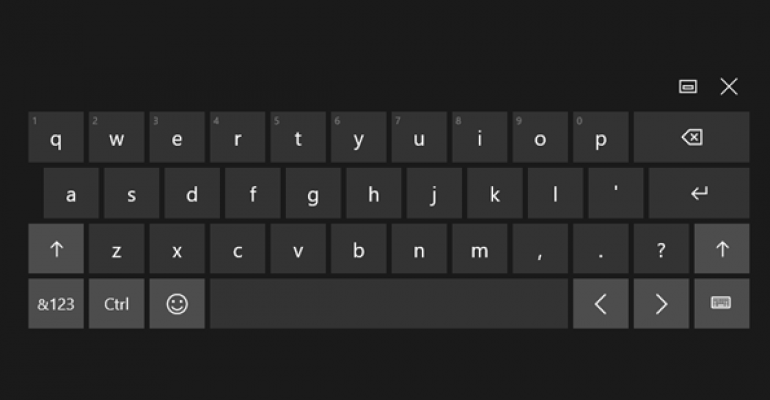 Windows 10 New Keyboard Options Available After Cumulative Update 3