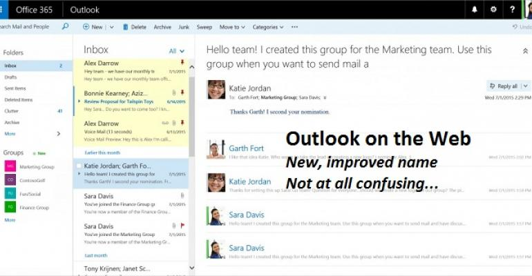 The unnecessary renaming of Outlook Web App