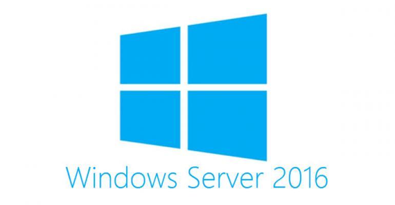 Install options for Windows Server 2016