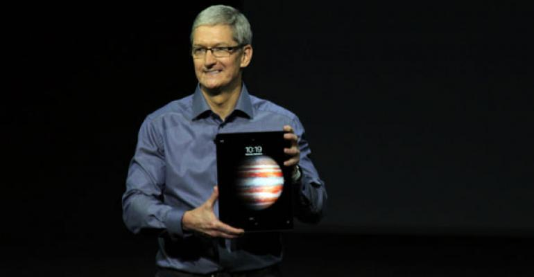 Apple CEO Tim Cook unveils the iPad Pro on Wednesday