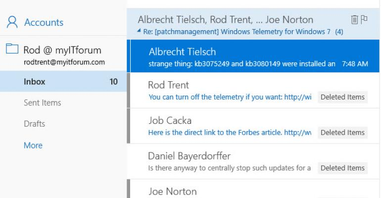 How to: Turn off Conversation View in the Windows 10 Mail App | IT Pro