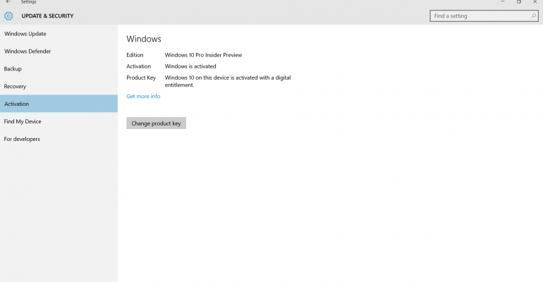 Details on changes for Windows 10 activation in Threshold 2