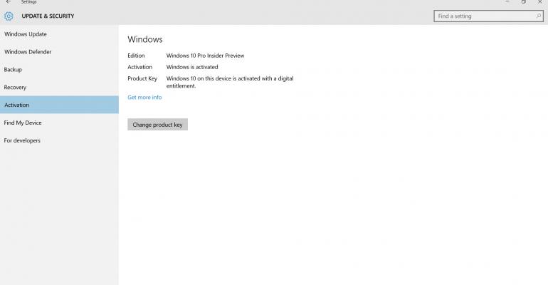 change product key not working windows 10