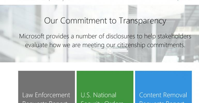 Microsoft Opens Up on Gov't Data Requests in New Transparency Hub