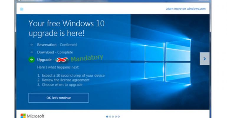 Microsoft Installs Windows 10 by Default – by Accident