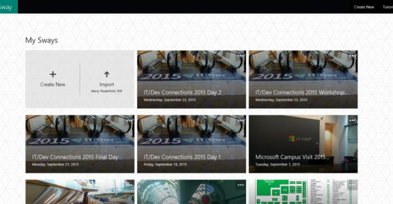 Microsoft Ties OneNote to Sway with Preview Add-in