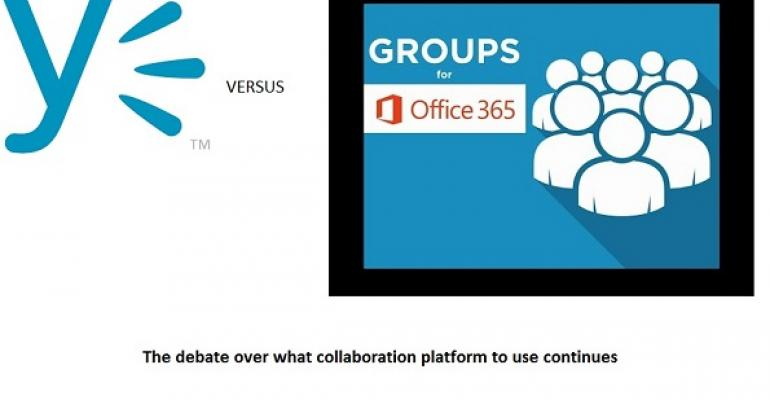 The ongoing debate over Office 365 Groups and Yammer