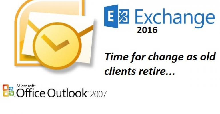 Why Exchange 2016 ignores Outlook 2007