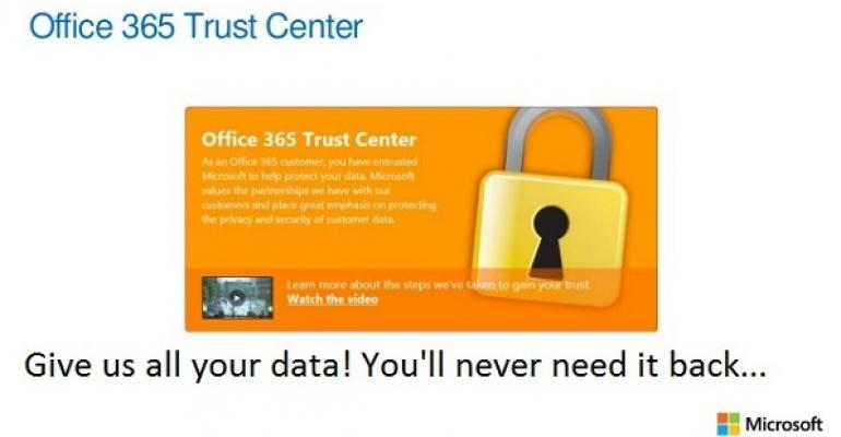 Getting data into Office 365 is easy; not so straightforward to retrieve