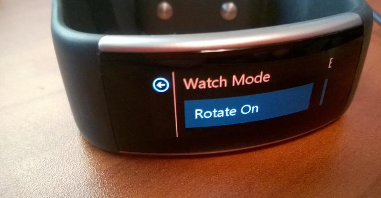 Band v2 Enhancements: Wrist Rotate to Show Time and Date