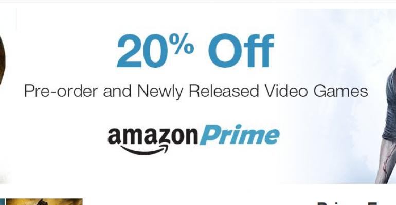 Amazon Prime members get 20% discount on game pre-orders