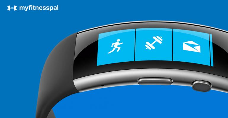 What is the Microsoft Health Calorie Adjustment for MyFitnessPal?