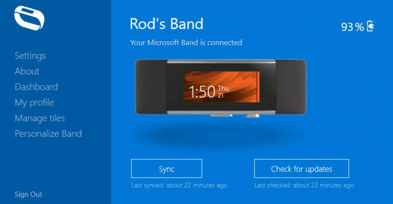 """Resolving the """"Band Error - I can't find your band"""" for Microsoft Band 2 Desktop Sync"""