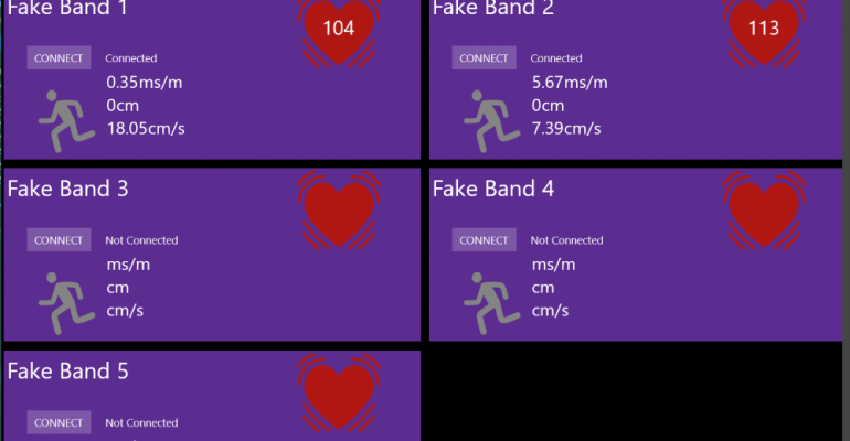 Develop for Microsoft Band without Actually Connecting a Microsoft Band