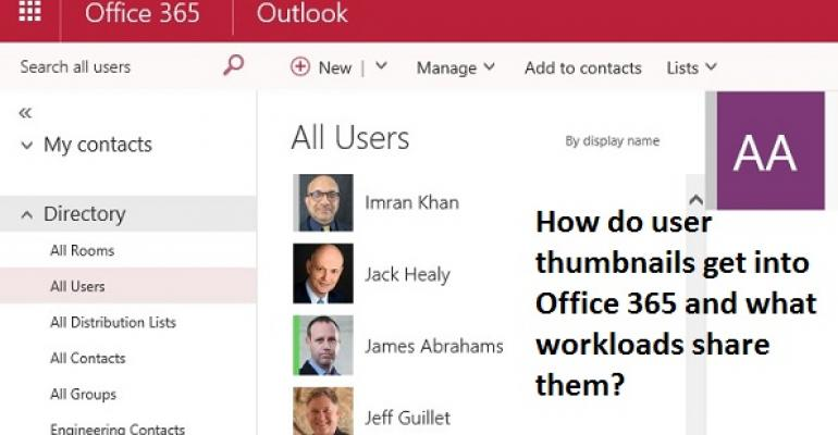 Synchronizing user photos across Office 365 workloads isn't easy