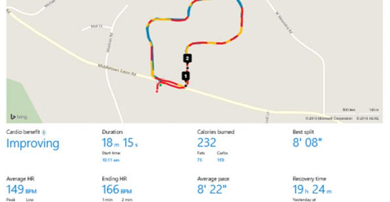 Microsoft Band GPS Power Saver in Practice