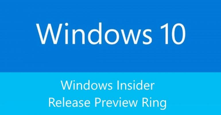 Microsoft Adds a Release Preview Ring to Windows Insider Program