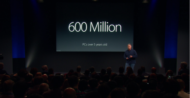 Apple Decides 600 Million PC Users with 5 Year Old PCs is a Sad Fact