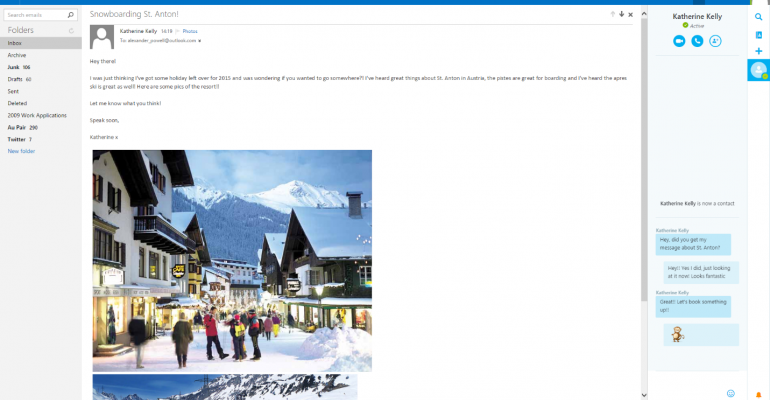 Collaborate via Skype in Office Online and OneDrive