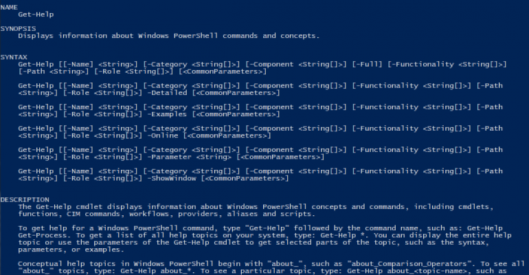Commented code block in PowerShell