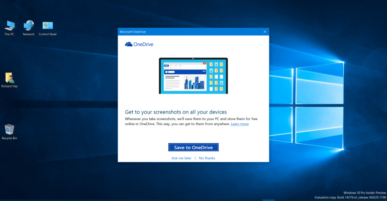 How-To: Save Windows 10 Screenshots to OneDrive by Default