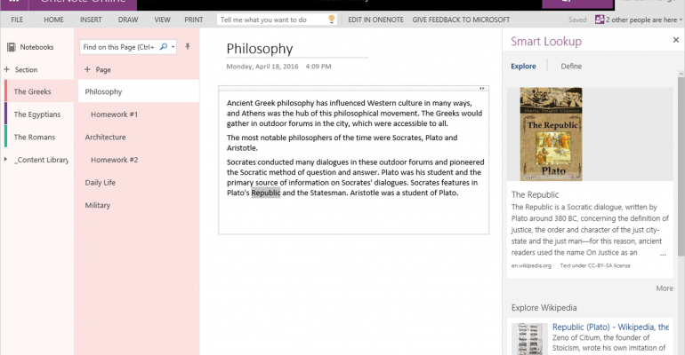 OneNote Gains Some Robust New Features