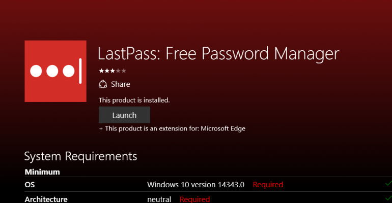 LastPass Browser Extension Finally Arrives for Microsoft Edge Users