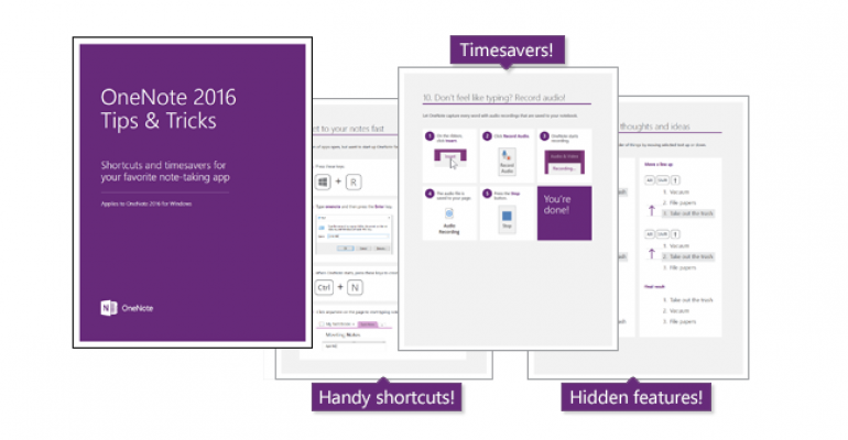 get started with onenote 2016