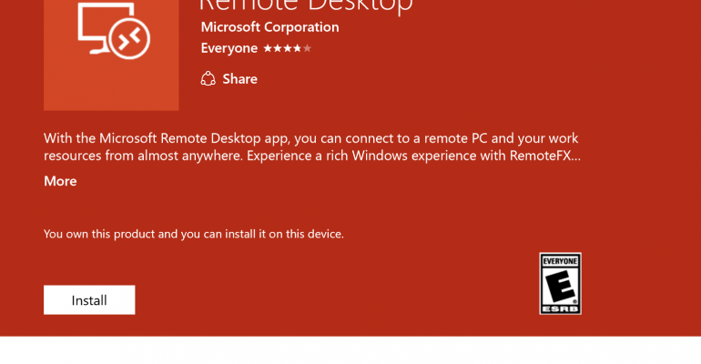 Apps | A new Universal Windows Platform App for remote access is now