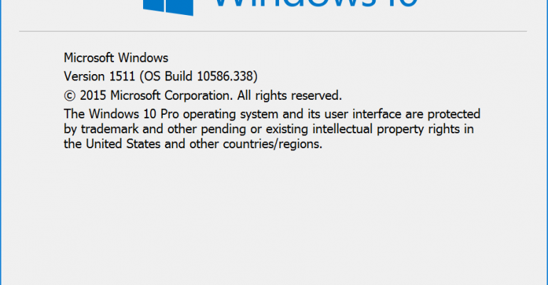 Windows 10 Build 10586.338 Cumulative Update Being Tested for June Patch Tuesday
